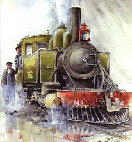 An Eric Leslie rendition of the planned new locomotive for the L&B
