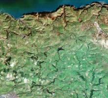 Satellite image of the L&B Route, 2000