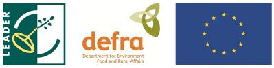 Leader4, defra and EU logos - Part financed by the European Agricultural Fund for Rural Development