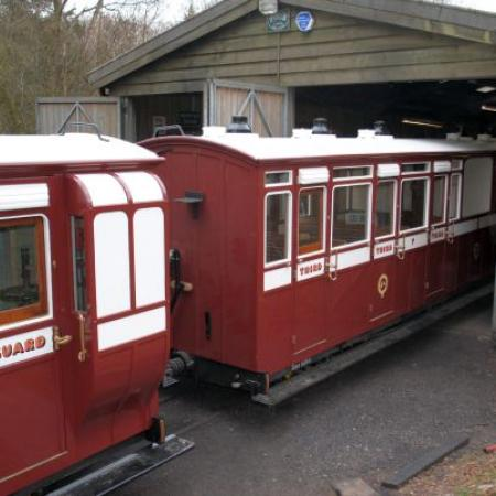 Coach 17, with coach 7 on shed